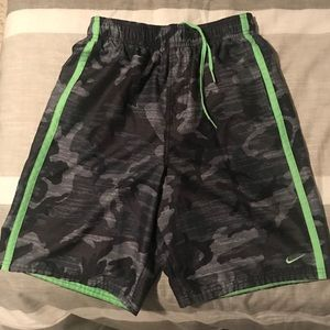 Mens Nike camouflage swimming trunks!